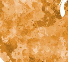 USA map in watercolor orange Sticker