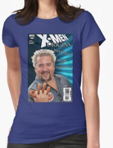 Guy Fieri/ Wolverine Mash up Womens Fitted T-Shirt