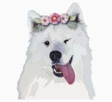 Pretty Samoyed Dog Kids Tee
