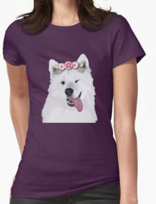 Pretty Samoyed Dog Womens Fitted T-Shirt