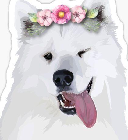 Pretty Samoyed Dog Sticker