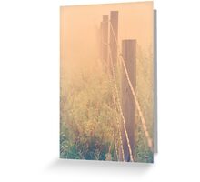 can't hold the fog in  Greeting Card