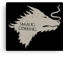 The Desolation Of Smaug - Smaug is Coming Canvas Print