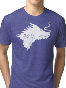 The Desolation Of Smaug - Smaug is Coming Tri-blend T-Shirt