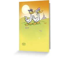 ducks in love Greeting Card