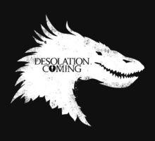 The Desolation Of Smaug - Smaug is Coming Kids Tee
