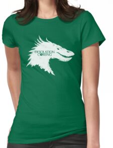 The Desolation Of Smaug - Smaug is Coming Womens Fitted T-Shirt