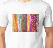 Greek carpet - Colorful striped bright cotton texture Unisex T-Shirt