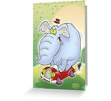 Elephant driving license Greeting Card