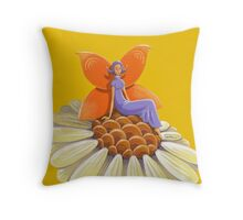 Singing Camomile Fairy Throw Pillow
