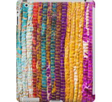Greek carpet - Colorful striped bright cotton texture iPad Case/Skin