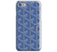 Goyard case blue iPhone Case/Skin
