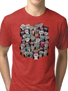 Find Me, I am the Owl looking Bird. Tri-blend T-Shirt
