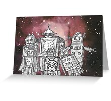 Robot Holiday 1 Greeting Card