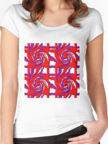 Swirl Pattern in Layers Women's Fitted Scoop T-Shirt