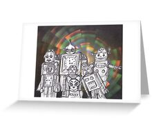 Robot Holiday 12 Greeting Card