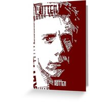 Rotten Punk Typo Art (on dark backgrounds) Greeting Card