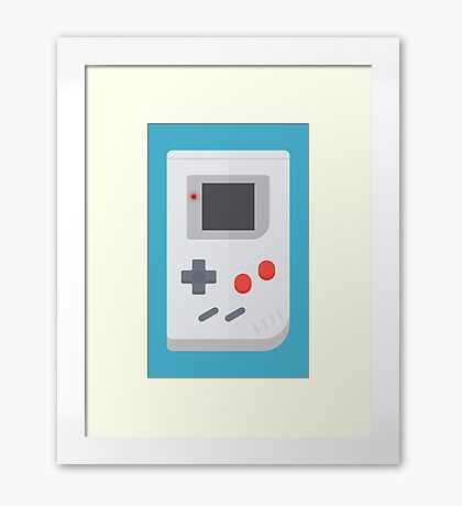 Retro Gameboy style graphic Framed Print