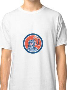Knight Head Armor Circle Cartoon Classic T-Shirt