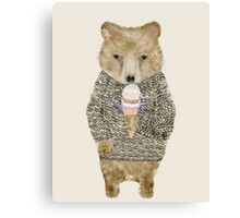 sundae bear Canvas Print