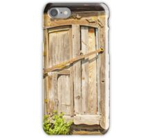 old brown wooden door iPhone Case/Skin