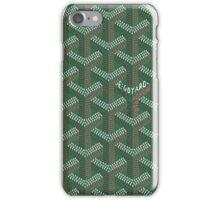 Goyard case green iPhone Case/Skin