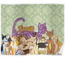 Cute Cat Collage Poster