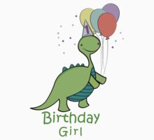 Baby Dinosaur Birthday Girl One Piece - Long Sleeve