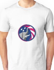 Republican Elephant Mascot USA Flag Circle Retro Unisex T-Shirt