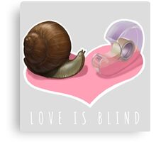 Snail Love is Blind Canvas Print