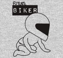Future Biker Baby One Piece - Long Sleeve