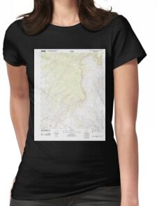 USGS TOPO Map Arizona AZ Big Willow Spring Canyon 20111028 TM Womens Fitted T-Shirt