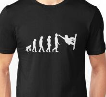 Snowboarding Evolution white Unisex T-Shirt