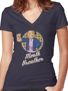 Mouth Breather Women's Fitted V-Neck T-Shirt
