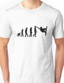 Snowboarding Evolution black Unisex T-Shirt