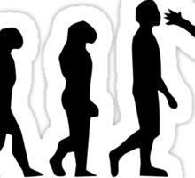 Snowboarding Evolution black Sticker