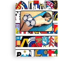 Footie Ass Canvas Print