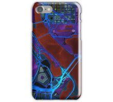 Dark map of Washington city center iPhone Case/Skin