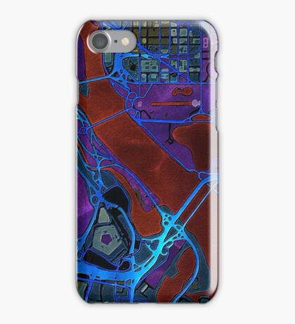 Dark map of Washington city center iPhone Case/Skin