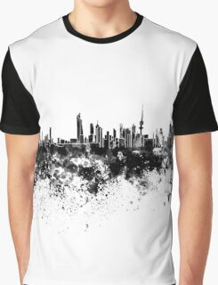 Kuwait City skyline in black watercolor Graphic T-Shirt