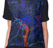 Dark map of Washington DC metropolitan area Chiffon Top