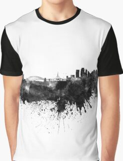 Sydney skyline in black watercolor Graphic T-Shirt
