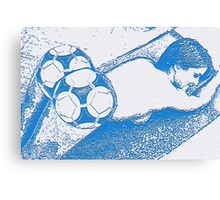 Footie Ass (in blue) Canvas Print