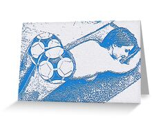 Footie Ass (in blue) Greeting Card