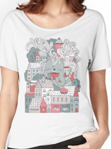 Town cat tea party Women's Relaxed Fit T-Shirt