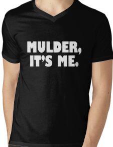 Mulder, It's me white Mens V-Neck T-Shirt