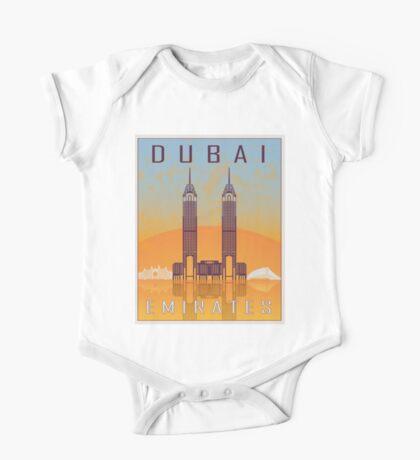 Dubai vintage poster One Piece - Short Sleeve