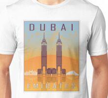 Dubai vintage poster Unisex T-Shirt