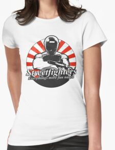Streetfighters,  Everythings More Fun Naked Womens Fitted T-Shirt