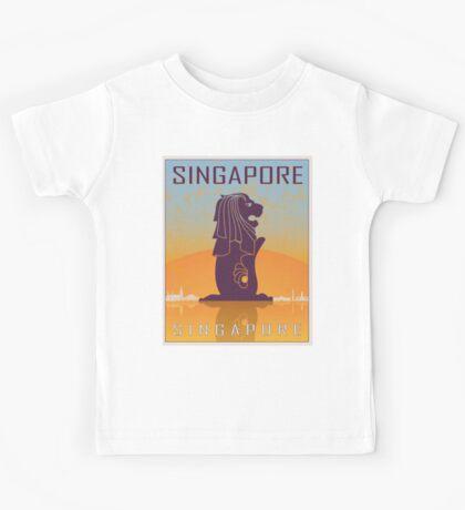 Singapore vintage poster Kids Tee